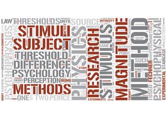 Psychophysics Word Cloud Concept