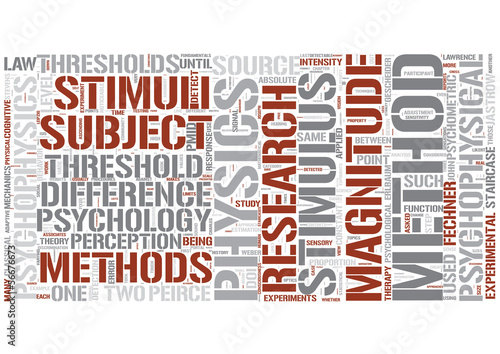 Psychophysics Word Cloud Concept