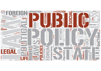 Public policy (law) Word Cloud Concept