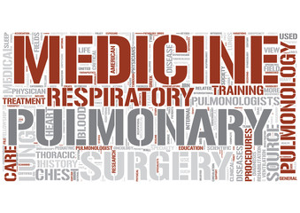 Pulmonology Word Cloud Concept