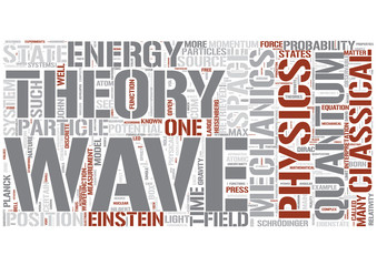 Quantum physics Word Cloud Concept