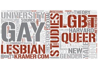 Queer studies Word Cloud Concept