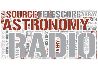 Radio astronomy Word Cloud Concept