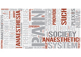 Regional anesthesia Word Cloud Concept poster