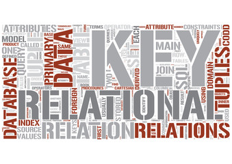 Relational database Word Cloud Concept