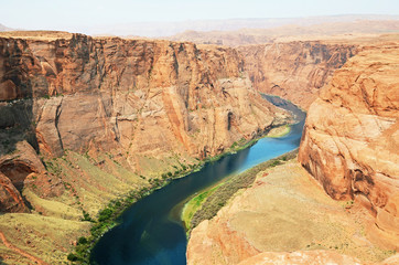 Horseshoe Bend, meander of the Colorado River, Page, Arizona