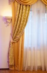beautiful gold curtain