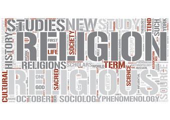 Religious studies Word Cloud Concept