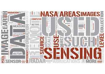 Remote Sensing Word Cloud Concept