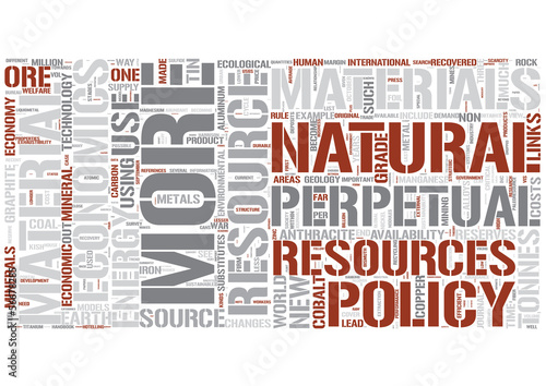 Resource economics Word Cloud Concept