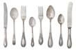 Leinwandbild Motiv vintage old cutlery
