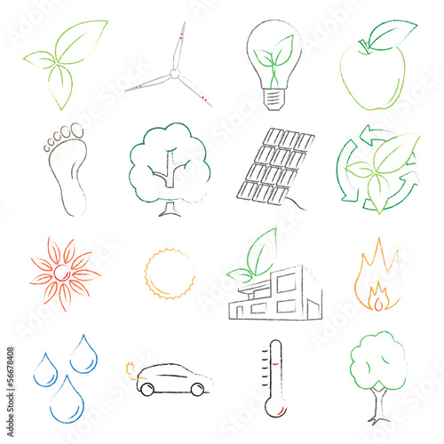 Colored Ecology Symbols