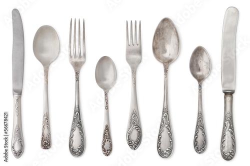 vintage old cutlery - 56678421