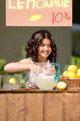 little girl lemonade stand