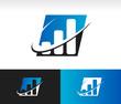 Swoosh Bar Chart Icon