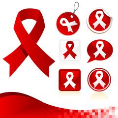 Red Awareness Ribbons Kit