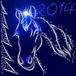 Illustration of New Year Horse 2014