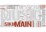 Sacred music Word Cloud Concept