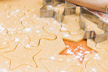 The process of baking homemade cookies.