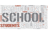School psychology Word Cloud Concept