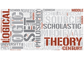 Scholasticism Word Cloud Concept