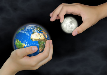 Erde & Mond