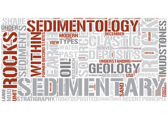 Sedimentology Word Cloud Concept