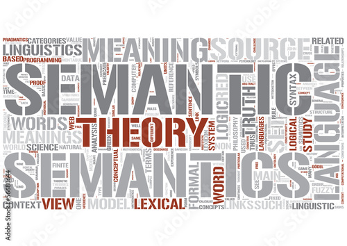 Semantics Word Cloud Concept