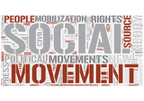 Social movements Word Cloud Concept
