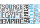 African history Word Cloud Concept