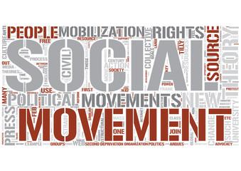 Social movements Word Cloud Concept