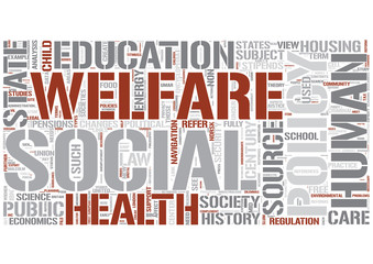 Social policy Word Cloud Concept