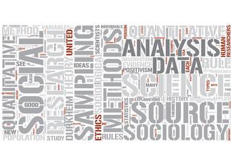 Social research Word Cloud Concept