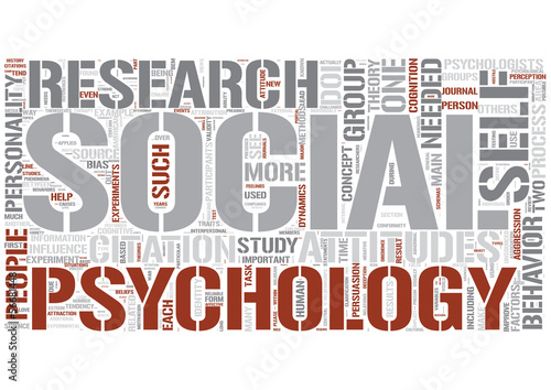 Social psychology (psychology) Word Cloud Concept