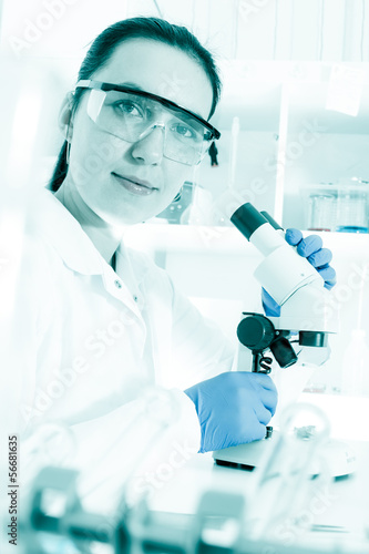 Laboratory assistant in the laboratory