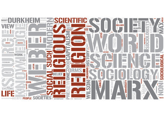 Sociology of religion Word Cloud Concept