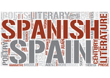 Spanish literature Word Cloud Concept