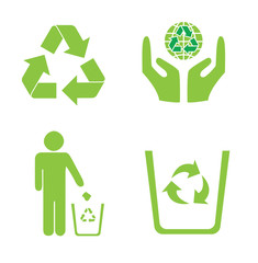 Recycling icon green