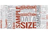 Statistical sampling Word Cloud Concept