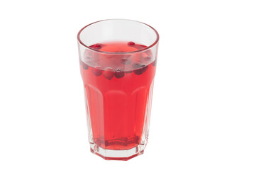 stewed cranberries in a glass