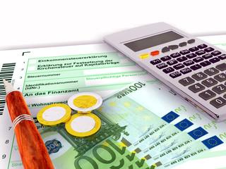 Steuerformular fhundert Euro