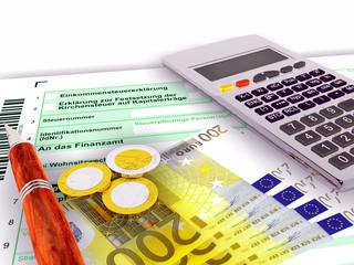 Steuerformular zweihundert Euro