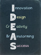 IDEAS on BLACKBOARD (innovation solutions creativity brain)