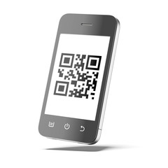 Smartphone with qr code