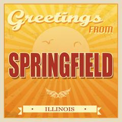 Vintage Springfield, Illinois poster