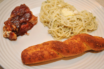 Bread Stick with Pasta and Meat