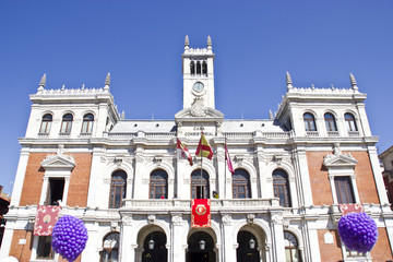 City hall in Plaza mayor in Valladolid