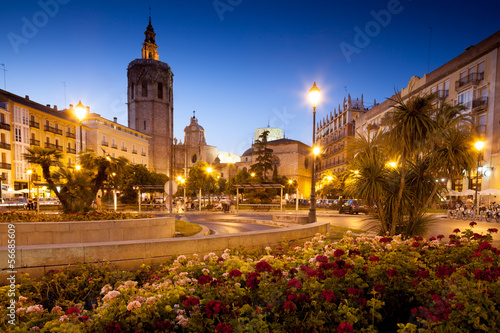 canvas print picture Valencia Old Town