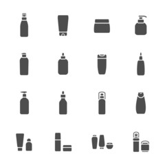 cosmetics icons set