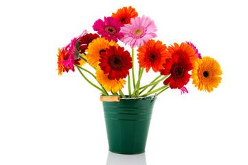 Colorful bouquet Gerber flowers